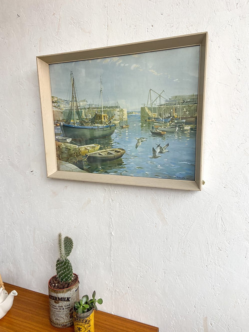 Vintage Print 'Safe Anchorage, Mousehole' by Vernon Ward