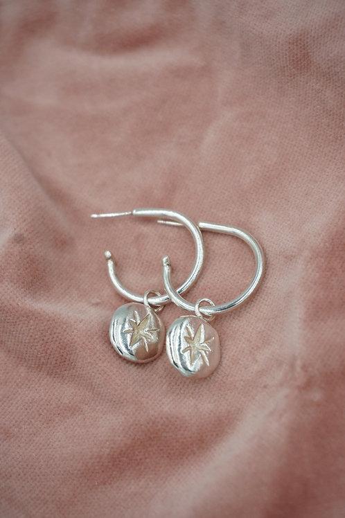 Stella Open Hoop Earrings