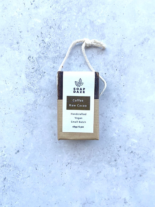 Soap Daze Coffee & Raw Cacao Soap on a Rope