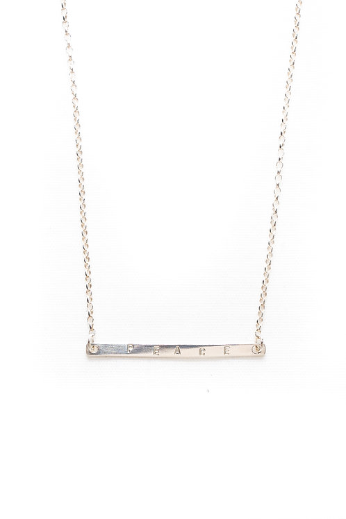 Skinny Personalised Bar Necklace