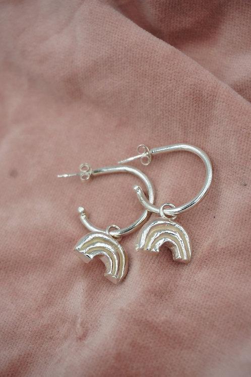 Rainbow Open Hoop Earrings