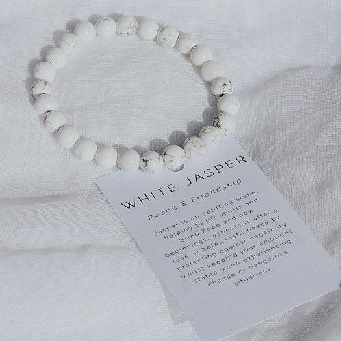 White Jasper Power Bracelet