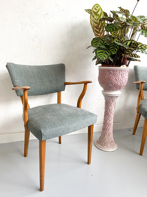 Mid-century Beech Wood Chairs