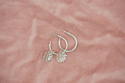 Daisy Open Hoop Earrings