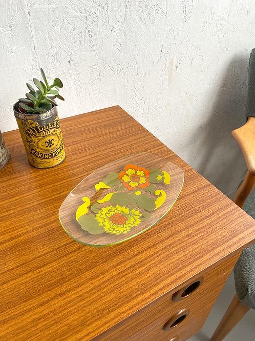 Vintage Floral Trinket Tray
