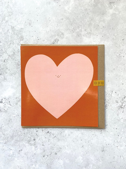 Heart Square Card by Hollie Fuller