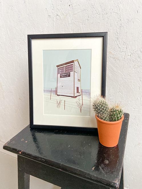 The Signal Box Framed Print by Tulu Draws
