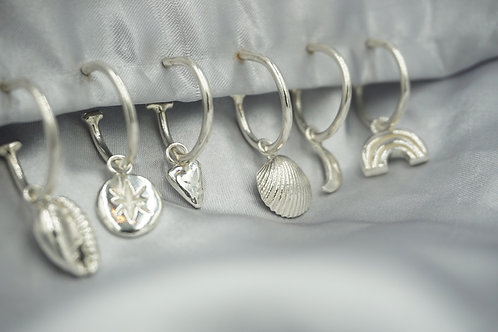 Mix and Max Charm Hoops