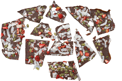 Strawberry Coconut Bark 100g