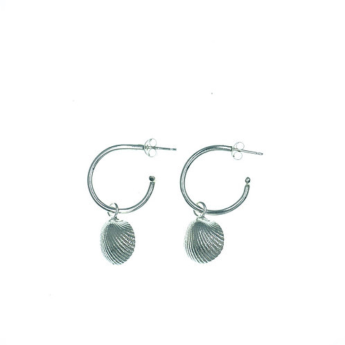 Shell Open Hoop Earrings