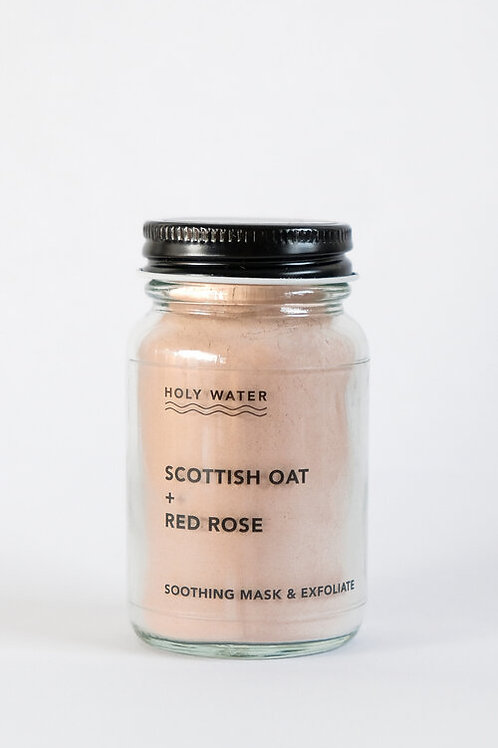 Holy Water Apothecary - Scottish Oat + Red Rose Exfoliation Mask