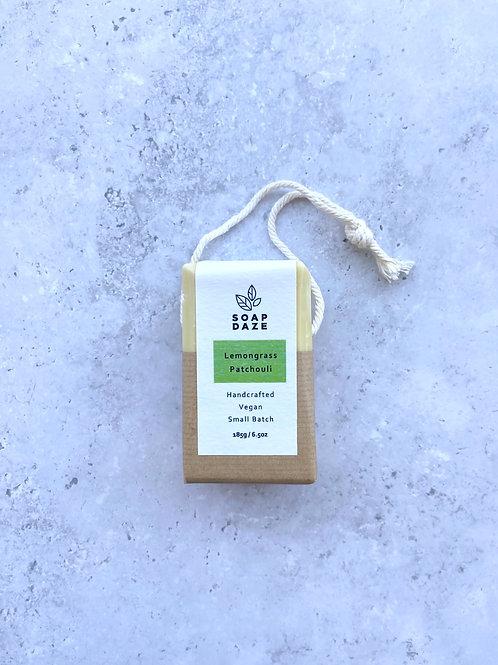 Soap Daze Lemongrass & Patchouli Soap on a Rope