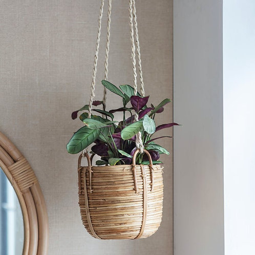 Wicker Hanging Plant Pot