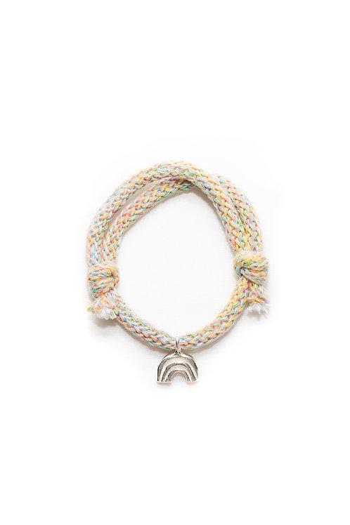 Rainbow Cotton Cord Bracelet