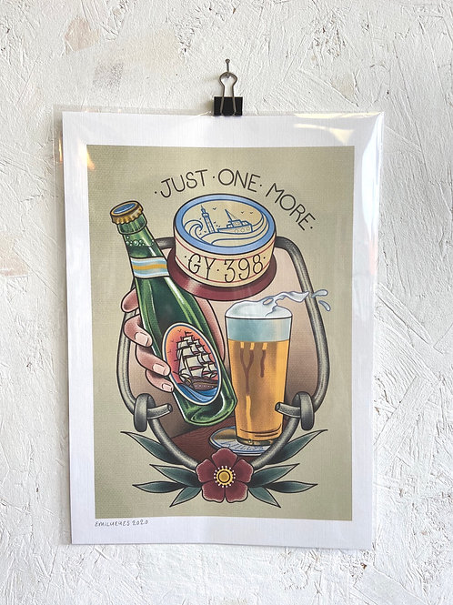 Grimsby Beer Print A4 - Emily Eyes