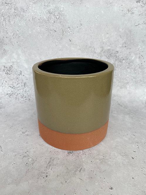 Khaki & Terracotta Plant Pot