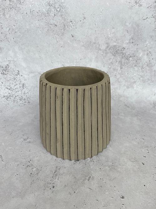 Ridged Plant Pot
