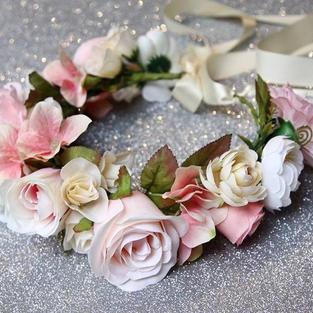 Blush Flower Wreath