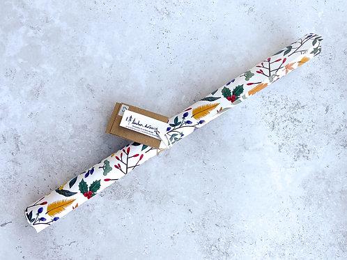 Winter Foliage Gift Wrap by Tulu Draws