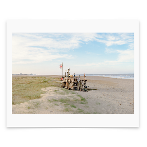 Beach Hut Mounted Print - Dan Baker