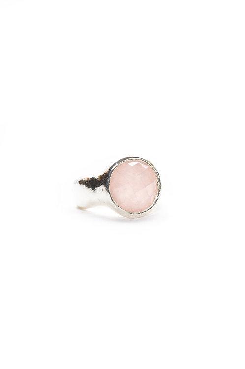 Rose Quartz Aurora Ring