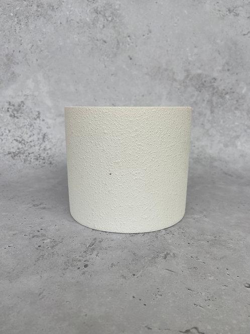 White Textured Plant Pot