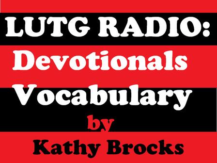 Devotional Reading  Vocabulary