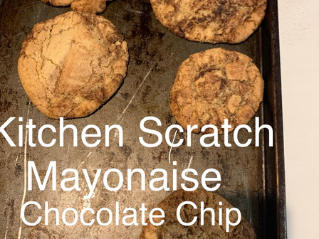 Mayo Chocolate Chip Cookies