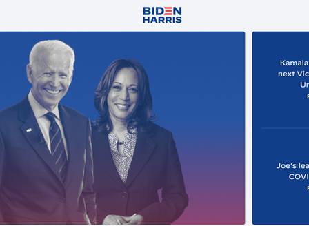 Congrats! Biden and Harris, I got a question.
