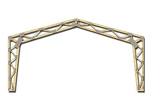 Ferme prefabricate pentru hale de lemn MIRADEX