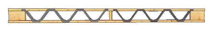 Grinda cu zăbrele din lemn tip Posi-Strut prefabricata cu conectori MiTek