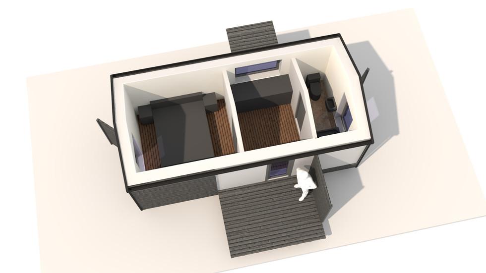 NIDUS Dove vedere din interior | Casa modulara de vacanta | Transportabila oriunde in Europag