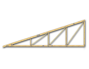 Ferma prefabricata monopanta MIRADEX