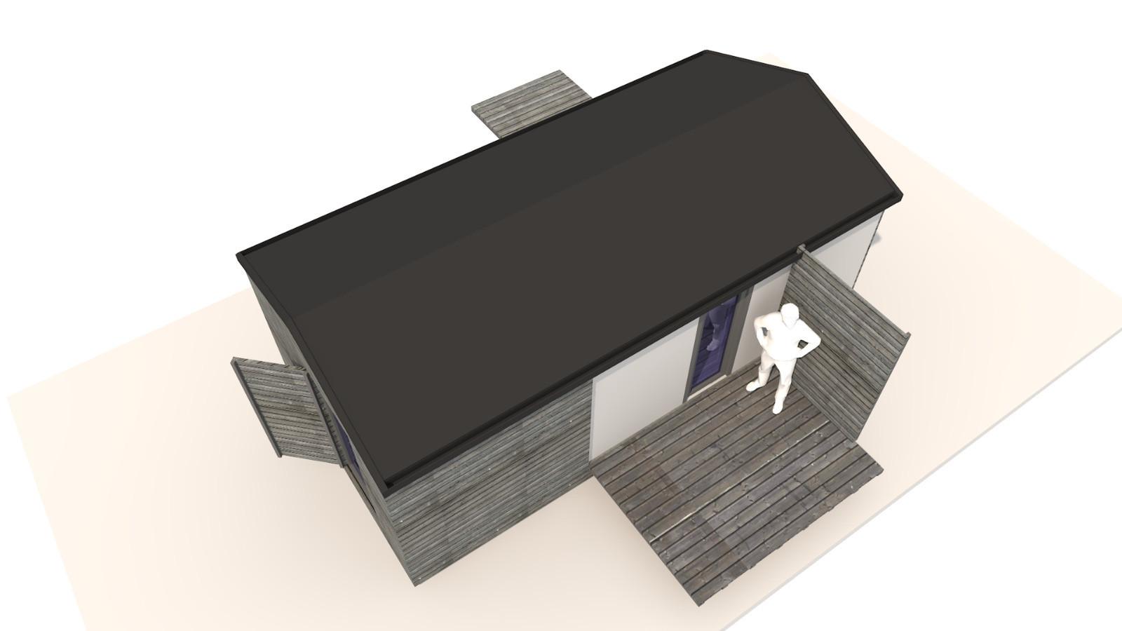 NIDUS Dove vedere de sus   Casa modulara de vacanta   Transportabila oriunde in Europa