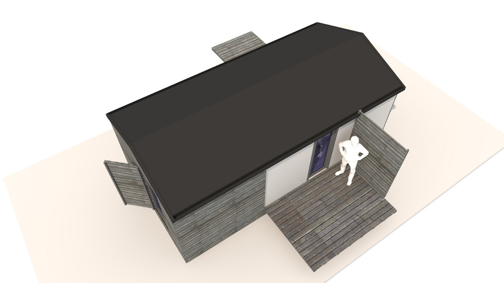 NIDUS Dove vedere de sus | Casa modulara de vacanta | Transportabila oriunde in Europa