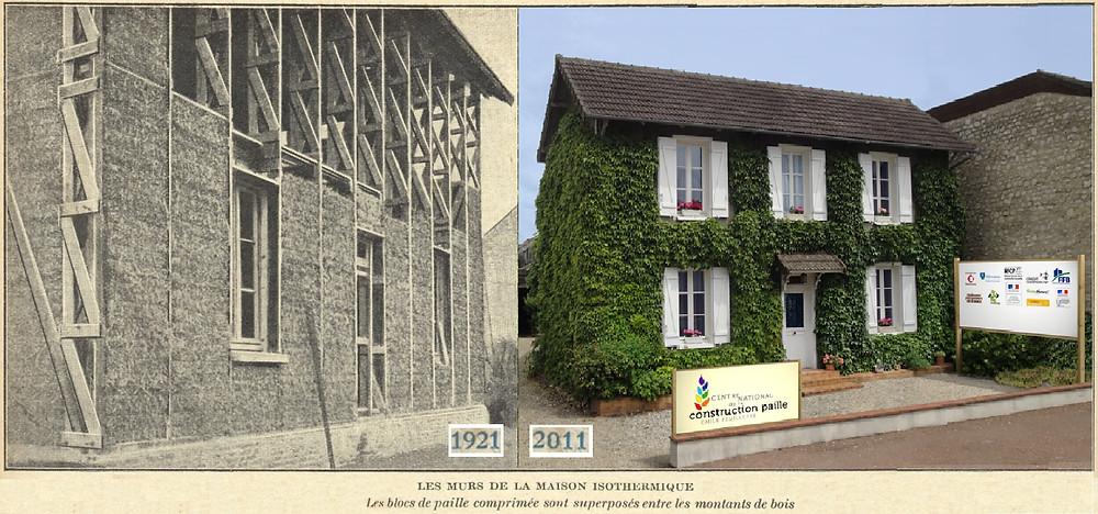 Prima casa cu bloți de paie din Franța, recondiționată și transformată în obiect de patrimoniu