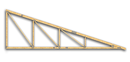 Ferma din lemn monopanta pentru structuri acoperis din lemn - Miradex Wooden Buildings