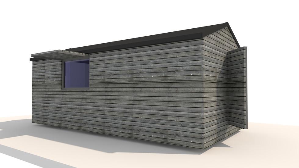 NIDUS Dove vedere laterala | Casa modulara de vacanta | Transportabila oriunde in Europa