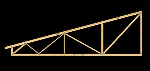 Fermă monopantă prefabricată cu plăcuțe multicui | Miradex Prefabricated Wooden Structures