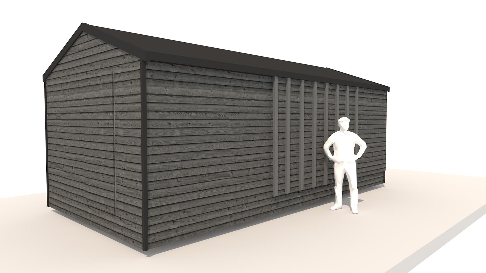 NIDUS Dove vedere din fata inchis   Casa modulara de vacanta   Transportabila oriunde in Europa