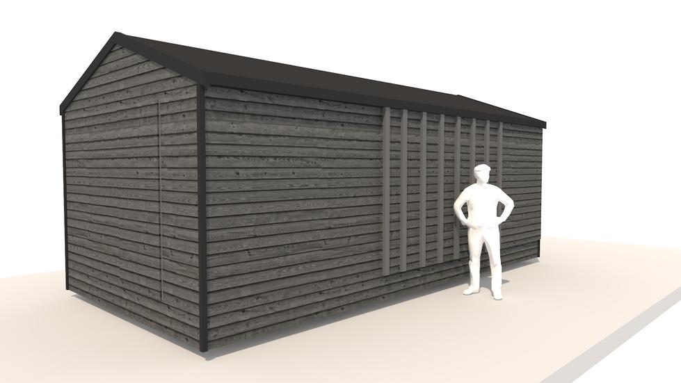 NIDUS Dove vedere din fata inchis | Casa modulara de vacanta | Transportabila oriunde in Europa