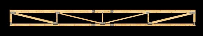 Grinzi cu zăbrele din lemn sudate cu placute multicui | MIRADEX