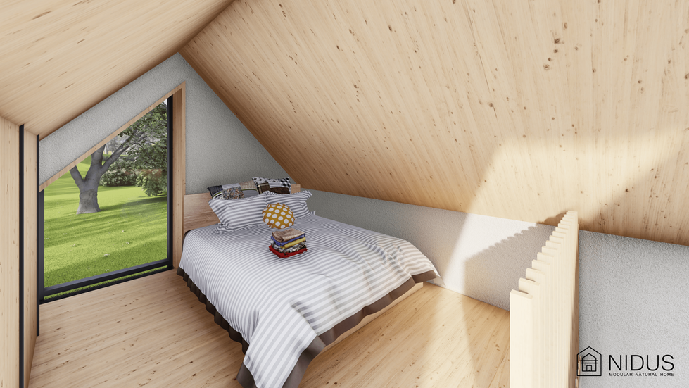 Nidus Condor - o casa modulara prefabricata cu materiale naturale