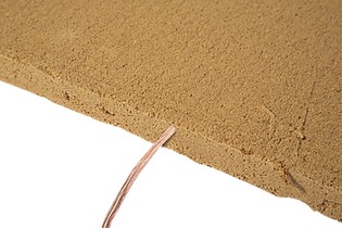 Placă radiantă de argilă cu rezistență termmică în interior