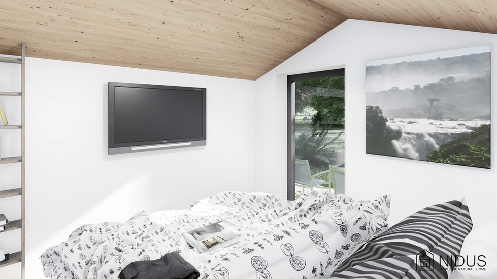 Nidus Dove - o casa modulara prefabricata cu materiale naturale