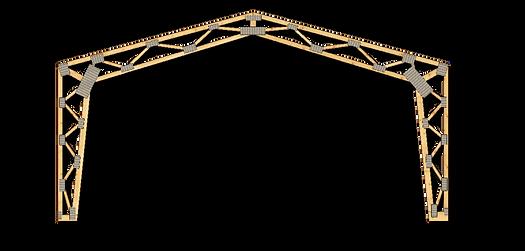 Kit de ferme prefabricate pentru hale | MIRADEX