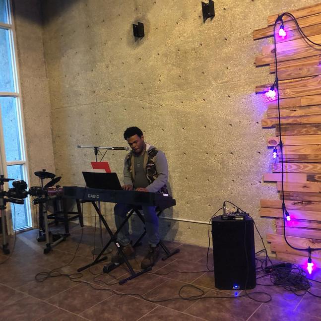 DJ leading Worship