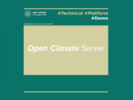 "Join the ""Open Climate Server"" technical demonstration: Friday 4 DEC (9am PST 