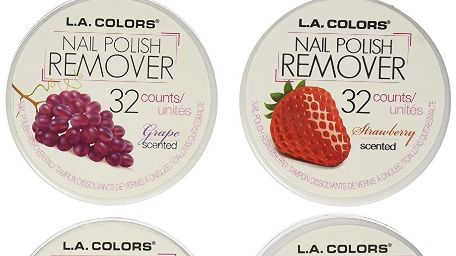 LA Colors Nail Polish Remover Pads 6 Fruit Scents (32 Pads of each)