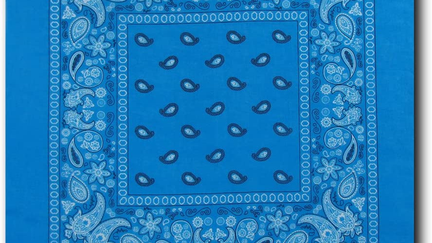 Kaiser Collection Double Sided Paisley Bandanas-Turquoise